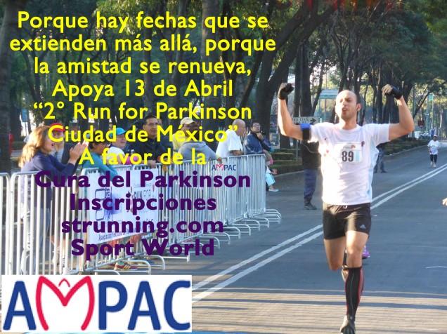 "Apoya 13 de Abril ""2° Run for Parkinson Ciudad de México"""